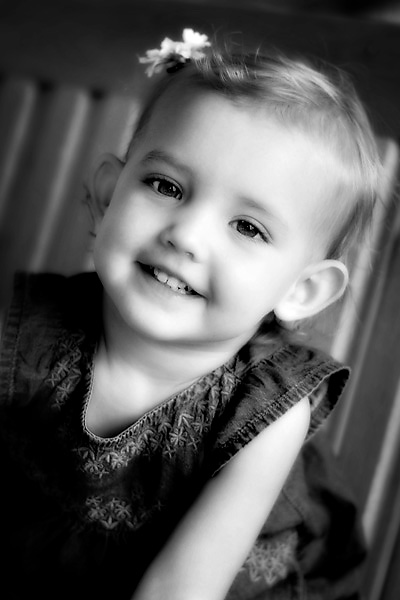 black and white two year old