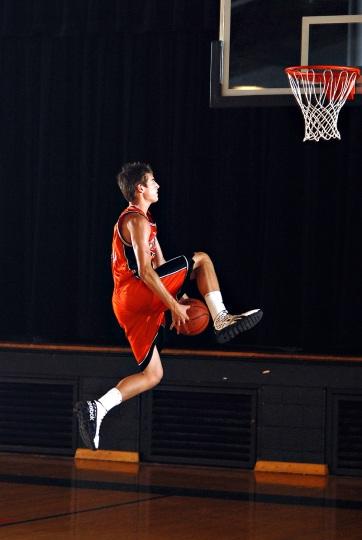 senior basketball player
