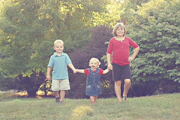 Family portrait - three kids