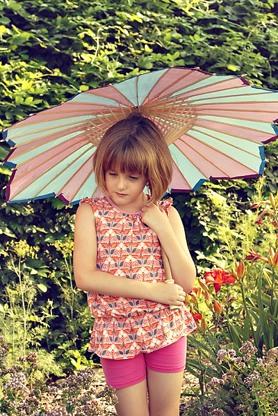 girl with umbrella