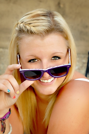 senior with sunglasses