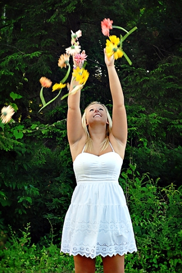 2012 senior with flowers