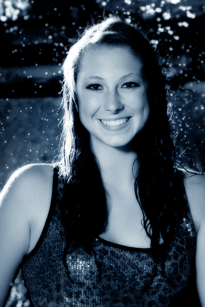 2012 senior girl- blue rain
