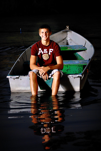 2012 senior in a boat