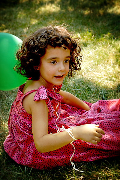 leah with balloon