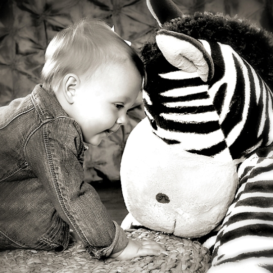 photograph ofTeagan and her zebra