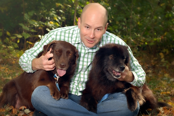 photo of jason and his dogs