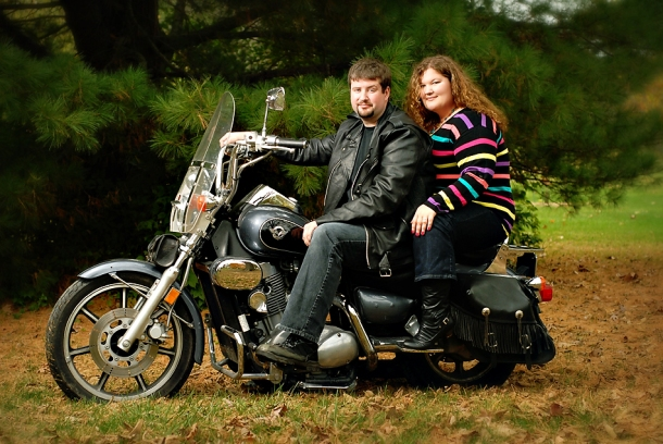 Engagement photos_ motorcycle
