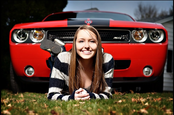 2012 senior girl with car