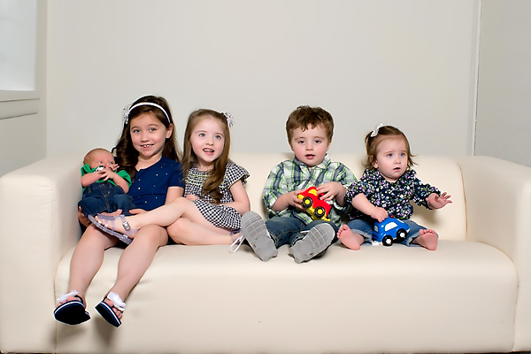 portrait of 5 grandchildren