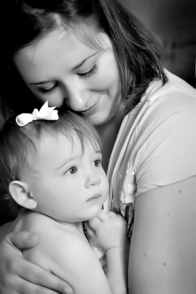 baby and mother photograph