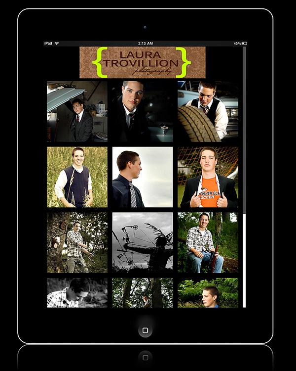 Senior portrait album on your smartphone or tablet