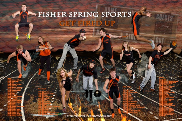 Poster of Senior Athletes in Spring Sports 2012