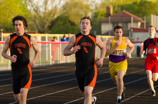 sports action -  boys track