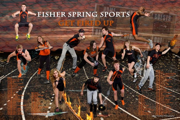Sports poster featuring senior athletes