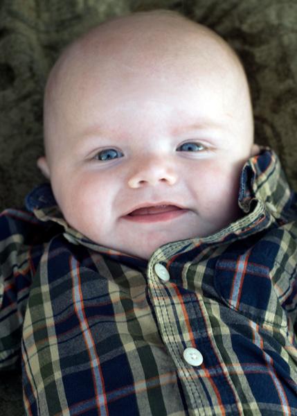Portrait of a baby boy