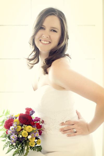 informal bridal photograph