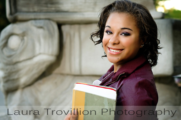 2013 Senior Portrait - girl with book