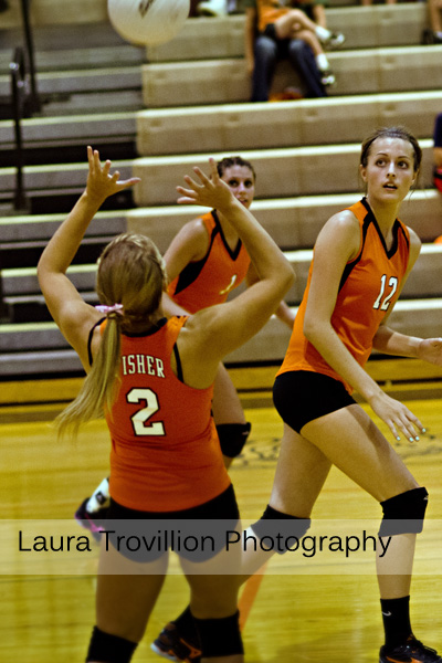 Fisher volleyball action shots