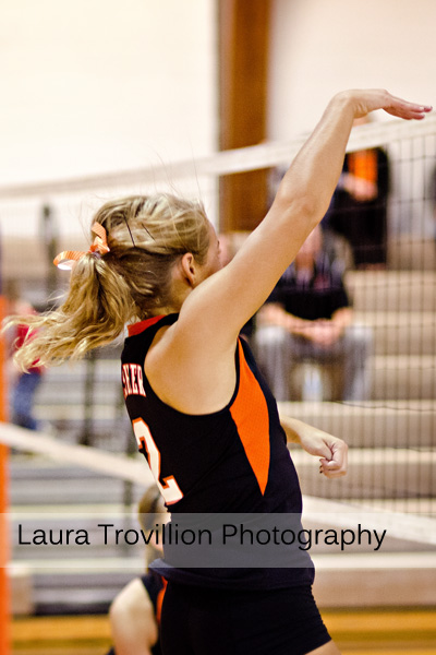 Volleyball action shots by Laura Trovillion Photography