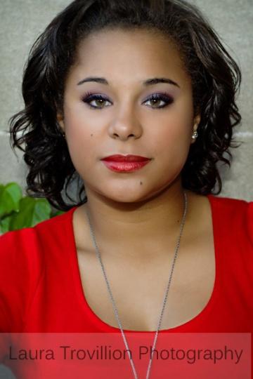 2013 Senior Portrait - girl in red