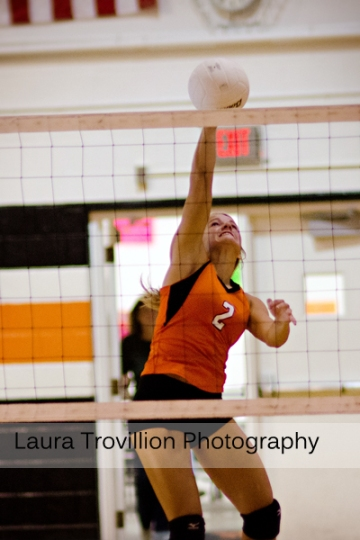 Fisher varsity volleyball action shots by Laura Trovillion Photography