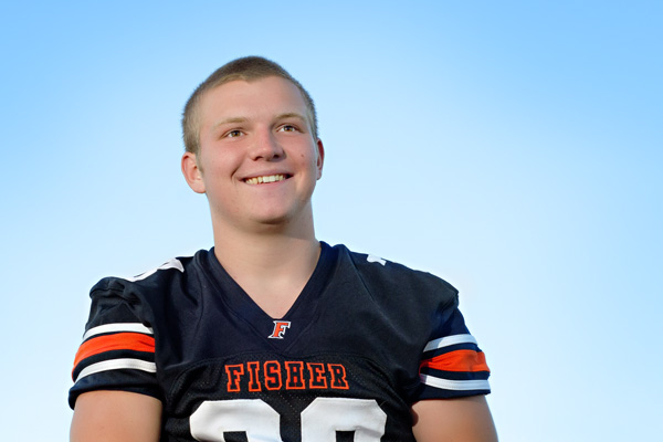 senior boy pictures-football