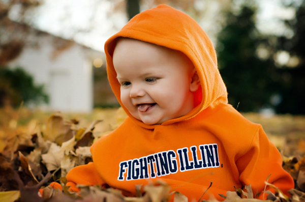 photos of a nine month old in the leaves