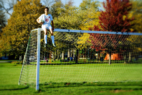 Senior portrait_ soccer field