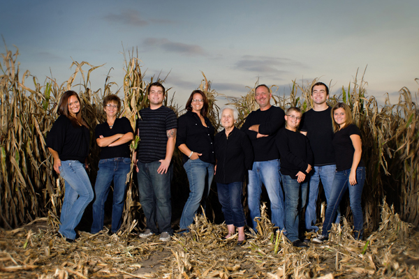 farm family photos - harvest