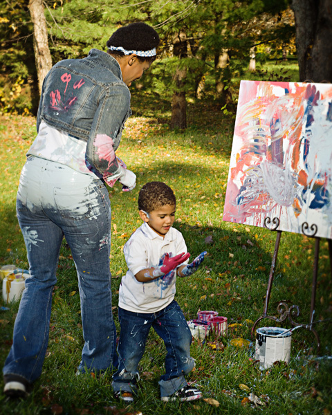 Family Unportrait_ getting messy