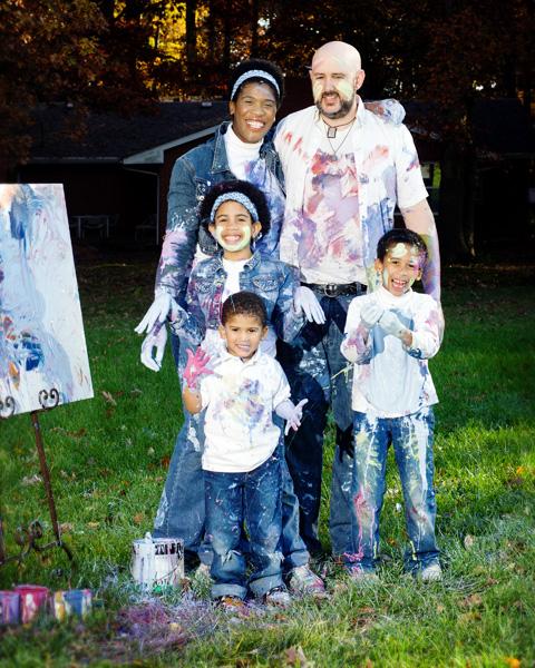 Family Unportrait _ painted family
