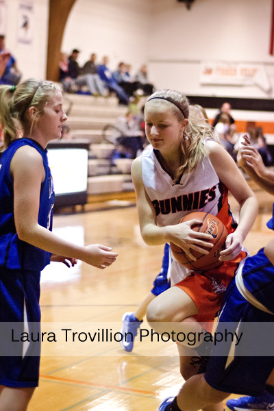 High School girls basketball action photos