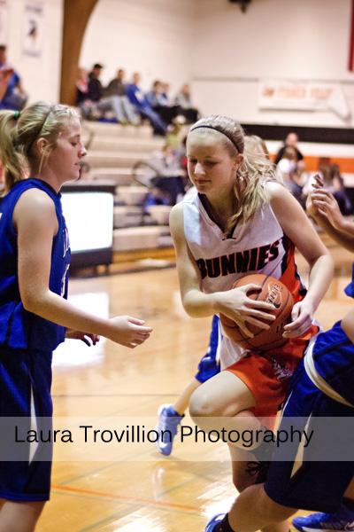 High School girls basketball action photos