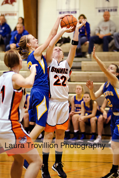 Fisher Varsity Girls Basketball action photos