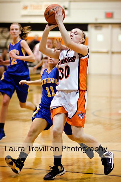 Fisher Varsity Girls Basketball action photos