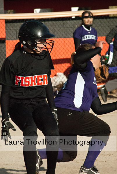 Softball action photos by Laura Trovillion Photography