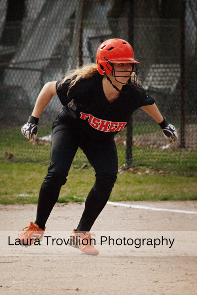High school softball action photos