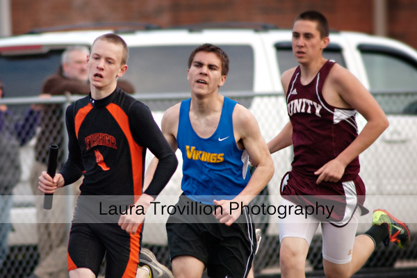 High School Boys Track Action Photos