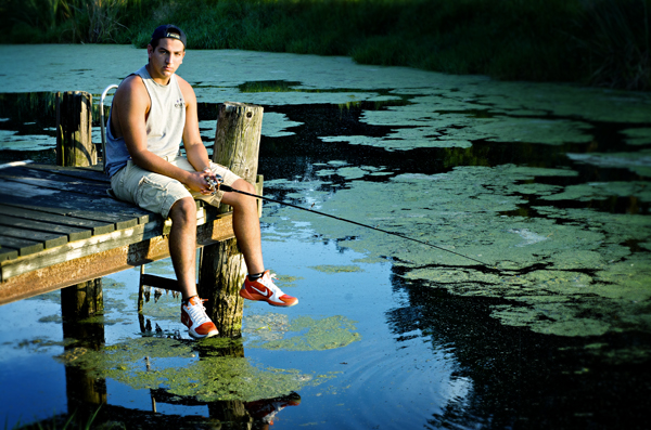 Senior picture _boy fishing