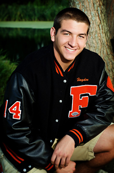 Senior boy with letterjacket