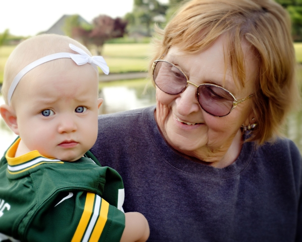 packer baby with greatgrandma