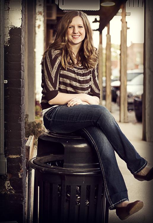 Senior girl urban look