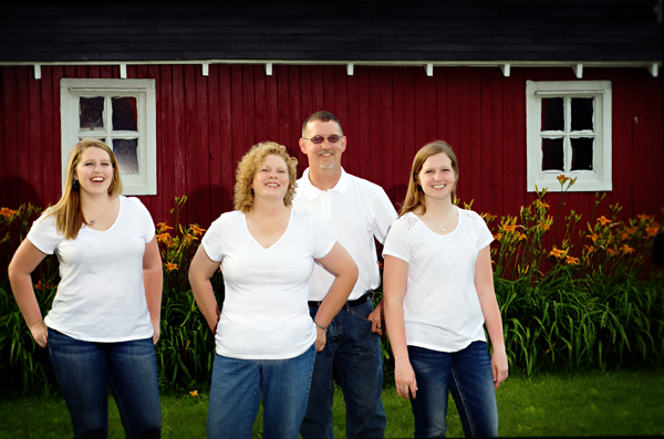 Family Portraits on their farm