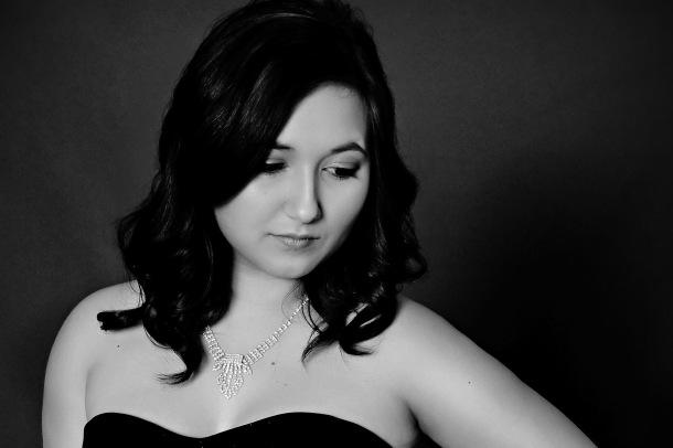 Beautiful Senior in Black and White